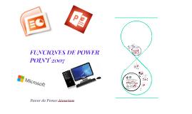 FUNCIONES DE POWER POINT