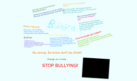 Bullying is wrong!