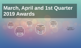March 2019 Awards