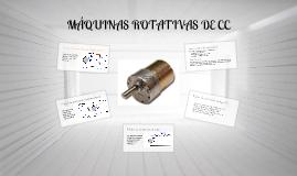 Máquinas rotativas de cc