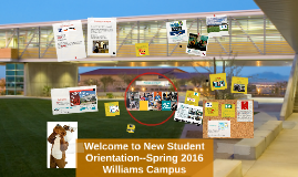 Welcome to New Student Orientation--Spring 2015