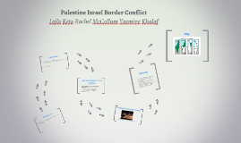 Palestine Israel Border Conflict