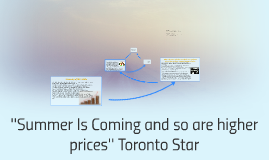 ''Summer Is Coming and so are higher prices'' Toronto Star