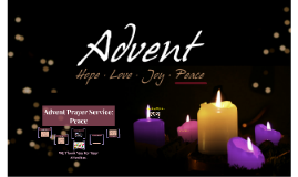 Advent Prayer Service