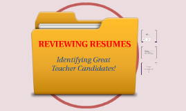Reviewing Teacher Resumes