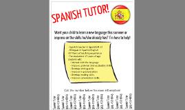 Copy of Spanish Tutor flyer by Rosemarie Amburgey on Prezi