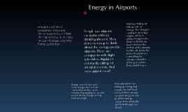 Energy in Airports