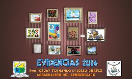 EVIDENCIAS 2016