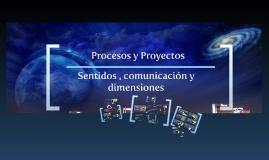 Procesos y Proyectos I Sentidos , comunicación y dimensiones