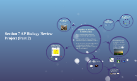 Section 7 AP Biology Review Project (Part 2)