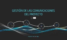 Copy of GESTIÓN DE LAS COMUNICACIONES DEL PROYECTO