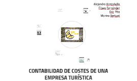 CONTABILIDAD DE COSTES DE UNA EMPRESA TURÍSTICA