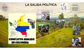 LA SALIDA POLITICA