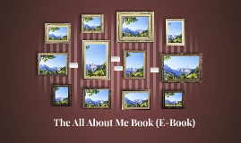 The All About Me Book (E-Book)