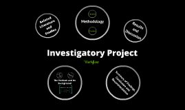 Investigatory Project Workflow