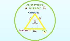 Abrahamitiska religioner åk 7