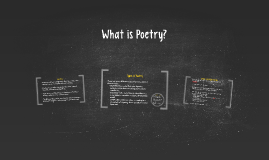 What is Poetry?