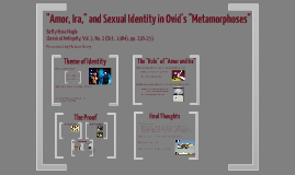 Amor, Ira, and Sexual Identity in Ovid's Metamorphoses