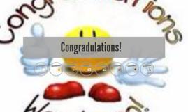Congradulations!