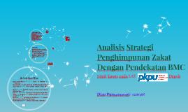 Analisis Strategi Penghimpunan Zakat Dengan Pendekatan BMC