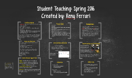 Student Teaching: Spring 2016