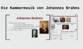 Die Kammermusik von Johannes Brahms