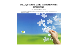 BALANÇO SOCIAL COMO INSTRUMENTO DE MARKETING