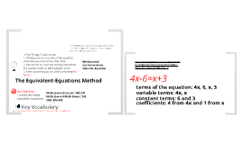 6-11: The Equivalent-Equations Method
