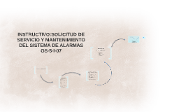 INSTRUCTIVO:    SOLICITUD DE SERVICIO Y MANTENIMIENTO DEL SI