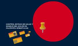 CONTROL ESTADO DE SALUD Y MANEJO DEL DOLOR