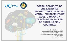 FORTALECIMIENTO DE LOS FACTORES PROTECTORES DE SALUD MENTAL