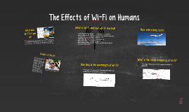 The Affects of Wi-Fi on Humans
