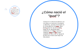 """¿Cómo nació el """"Ipod""""?"""