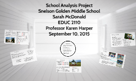 Copy of Copy of School Analysis Project: Snelson Golden Middle School