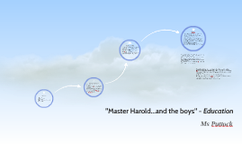 """Master Harold...and the boys"" - Education"