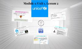 Module 1: Unit 1, Lesson 2
