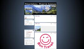 Présentations - Projet de Sciences