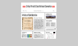 Critical Period and Constitutional Convention