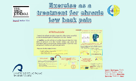 Exercise as a treatment for chronic low back pain