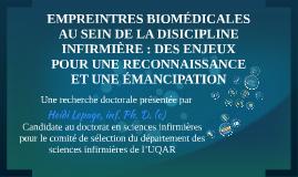 Empreintes biomédicales au sein de la discipline infirmière: des enjeux pour  une reconnaissance et une émancipation