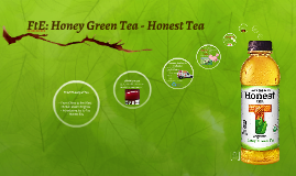 Follow the Energy: HonestTea