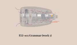 ELI-102 Week 1 Grammar