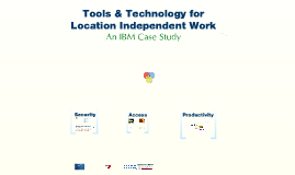 Tools & Technology for Location Independent Work
