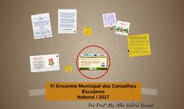 Cópia de IV Encontro Estadual dos Conselhos Escolares