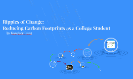 Ripples of Change: Ways College Students Can Reduce Their Carbon Footprint