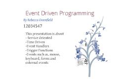 Copy of Event Driven Programming