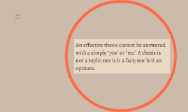 "An effective thesis cannot be answered with a simple ""yes"" o"