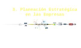 3.3 Planeación estratégica de las Empresas