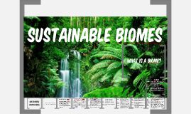 Sustainable Biomes