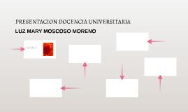 PRESENTACION DOCENCIA UNIVERSITARIA